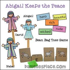 Abigail, David, and Nabal Bible Lesson for Children's Ministry          Abigail…