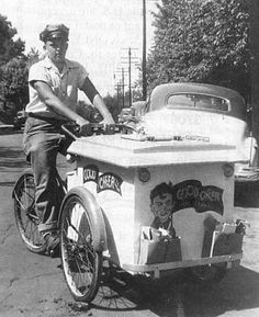 Where's Mr. Softee? I love this picture of an old bicycle-powered ice cream truck.