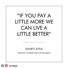 regram @livia_firth #Repost @ecoage ・・・ We all love a bargain, but the true cost of cheap clothing is detrimental to people and planet as shown on @truecostmovie. Always look for clothing that you can wear for at least #30wears and go with quality over qu