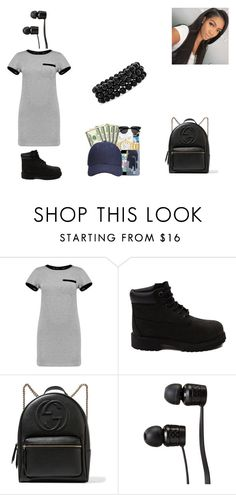 """""""Untitled #58"""" by baesfordayss ❤ liked on Polyvore featuring Boohoo, Timberland, Gucci, Vans and Bling Jewelry"""