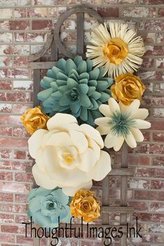 Paper flower display