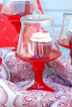 Dollar Store cupcake stand - easy, affordable and adorable!