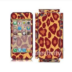 Animal pattern Skin Cover Screen Protector for Apple iPhone 5 (Style 1) [CCSK-PHVP12] - $12.00 : Orange Leopard