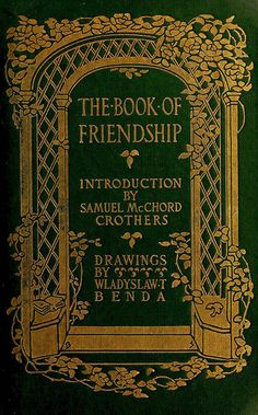 Book Cover The book of friendship (1910)