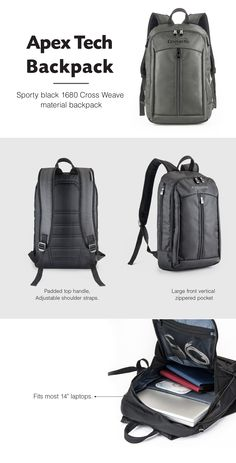 6ec9ec6db507 APEX TECH BACKPACK  The everyday – go anywhere backpack!  promotional   product  hooplapromo  Backpack  bags