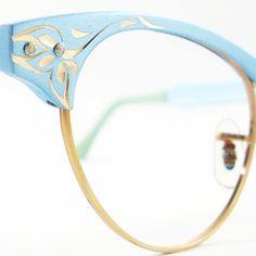 Vintage Cat Eye Glasses Eyeglasses by VintageEyeglassesCat ($120) found on Polyvore
