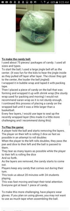 Christmas Candy Ball Game