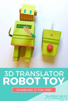 3D JW Translator Bot Toy | JW Printables
