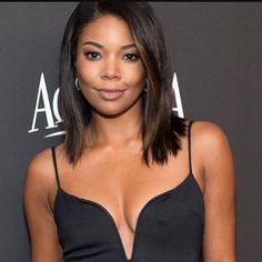 WGI Inspiration: Gabrielle Union. | Achieve a similar style with our straight hair available in Brazilian Indian and Mongolian at http://ift.tt/1VIHoDm