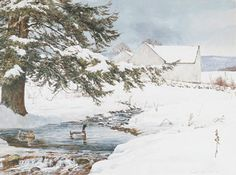 David Armstrong - Keeping Home - This is one of more than works of art offered by ArtUSA, The World's Source for Collectible Art. David Armstrong, Wren House, Dark Tree, Kind Person, Winter Art, May Flowers, Home Photo, Watercolour Painting, Illustration Art