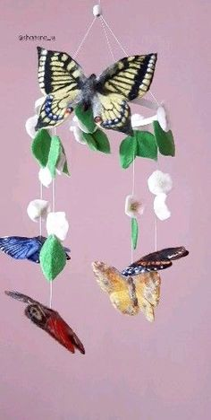 If you like mobile, but you want to change something, use other colors according to your nursery, pl Heart Template, Butterfly Template, Flower Template, Crown Template, Butterfly Nursery, Butterfly Mobile, Mobiles, Baby Nursery Bedding, Girl Nursery