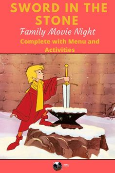 """Pass the afternoon quickly with a movie. Make it a whole family activity with related recipes - like make your own """"Sword in the Scones"""" and Sir Kay's Chicken Legs, as well fun themed activities! Stay home in style with this fun movie night. Dinner And A Movie, Family Movie Night, Family Movies, Old Disney, Disney Home, Disney Diy, Classic Disney Movies, Groove Movie"""