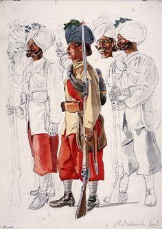 Sepoys, 30th Regiment (Bombay) Native Infantry, 1890 (c)