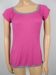 LULULEMON Pink Gray Breathable Mesh Short Sleeve Shirt 4 S Tunic X Static Top