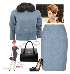 """""""Joan Holloway Style"""" by dickensfan ❤ liked on Polyvore featuring Marc Jacobs, Christian Louboutin, Kate Spade, joanholloway and madmen"""
