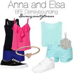 Anna and Elsa- BFF Disneybounding