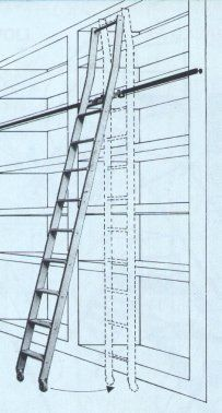 Phill realistic idea of a loft ladder tiny house ladders pinterest dachboden - Scalette per librerie ...