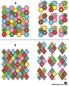 Jeux d'observation à imprimer, trouver les fragments d'une image
