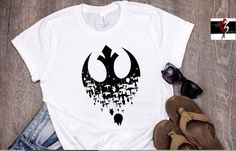 Your place to buy and sell all things handmade Fandom Fashion, Geek Fashion, Boxy Crop Top, Star Wars Outfits, Bleach Shirts, Star Wars Tshirt, Star Wars Rebels, Cute Outfits, Clothes For Women