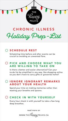 Chronic Illness Holiday Prep-List - The Happy Pelvis Feeling Weak, How Are You Feeling, Be Honest With Yourself, Simple Reminders, Ask For Help, Do Everything, Chronic Illness, Self Care, Feel Better