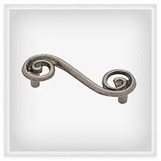 "BRAINERD 3"" Single Swirl Pull"" - P17066V-PEW-C7 (BRAINERD P17066V-PEW-C7), Decorative Drawer Pulls & Furniture Handles | LibertyHardware – Kitchen Cabinet Hardware & Finishes"