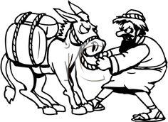 balaams talking donkey coloring pages - photo#24