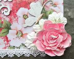 SIMPLY PAPER: TUTORIAL: Large Shabby Rose
