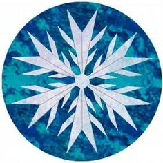 Snowflake Pattern, November free pattern from Cheryl Phillips, Uses 12 Degree Wedge Tool from Butterfly In The Round Paper Piecing Patterns, Quilt Block Patterns, Quilt Blocks, Christmas Tree Quilt, Christmas Quilt Patterns, Christmas Quilting, Christmas Templates, Snowflake Quilt, Snowflakes