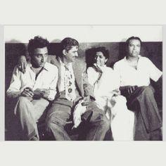 "RarePic:- G.M.Durrani, C. Ramchandra, Lata Mangeshkar, S. D. Batish.  For more rare pics/ads visit ""http://bit.ly/1Cx8aF1"" #bollywood #bollywoodirect #music #musician #legends #classic #vintage"