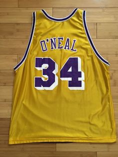 e8daf2051 Shaquille O Neal Champion Reversible Los Angeles Lakers Jersey 48 XL RARE  Shaq