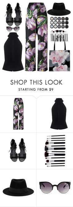 """""""Chic"""" by oliverab ❤ liked on Polyvore featuring Dolce&Gabbana, C/MEO COLLECTIVE, Maison Michel, NLY Accessories, Ted Baker, floral and floralprint"""