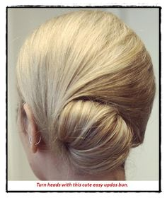 idea-3 cute easy updos for medium hair