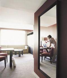 Brown Framed Mirror | Large Mirror | Bathroom Mirror | Custom Sized