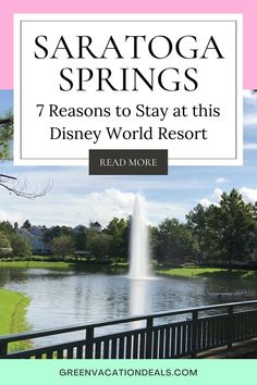 Why you will love a stay at Disney's Saratoga Springs Resort & Spa! If you're planning a Disney World trip in Orlando Florida, you should consider staying at Saratoga Springs Resort. Find out 7 reasons why your family will enjoy this hotel. Learn a trick we use to get a great price and pay a lot less than the standard cost. Get tips on where to eat & what the restaurants have to offer. And see photos of the studio villa & beautiful theming of the resort. Disney vacation advice. #DisneyResort Saratoga Springs Disney, Saratoga Springs Resort, Springs Resort And Spa, Walt Disney World Vacations, Disney World Resorts, Dream Vacations, Disney World With Toddlers, Disney World Planning, Disney World Tips And Tricks