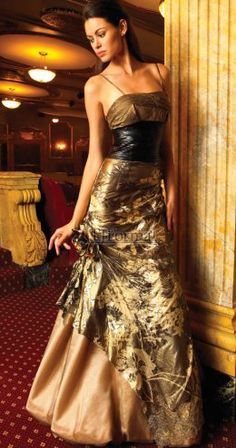 brown prom dress could be used for a wedding.