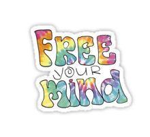 Tiedye Free Your Mind Quote Sticker