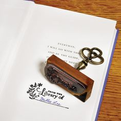 Personalize volumes in your own library as well as books you give away with our handy From the Library of… Stamp. The pretty, old-fashioned stamper leaves a decorative ink impression with a fill-in blank for your name or the name of a gift recipient. I Love Books, Good Books, My Books, Book Lovers Gifts, Book Gifts, Ex Libris, Personal Library, Gifts For Readers, All Gifts