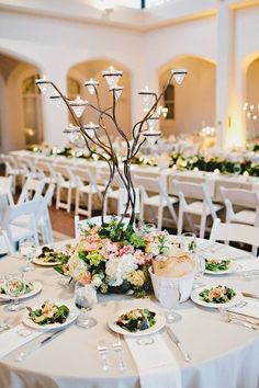 Branch Wedding Centerpiece | photography by http://amyarrington.com/