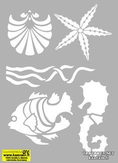 Морской комплект 09 (художественный трафарет)