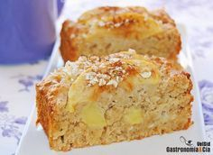Bizcocho de manzana, avena y miel Apple Recipes, Sweet Recipes, Cake Recipes, Dessert Recipes, Food Cakes, Cupcake Cakes, Tortas Light, Comidas Light, Pan Dulce