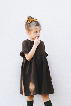 Handmade Linen Dress In Sizes Baby - Age 10 | TealandFinch on Etsy