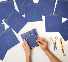 constellation embroidery kits