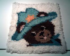 TEDDY BEAR Latch Hook Rug NURSERY Decor  Teddy by CathysCraftWorld