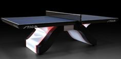Stiga Introduces a $20,000 Ping Pong Table Ping Pong Room, Ping Pong Table, Tennis Wallpaper, Gold Furniture, Home Entertainment, Beautiful Interiors, Basement Ideas, Game Room, A Table