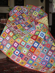 great stash-buster... some serious quilt awesomeness here