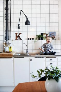 """Kitchen with a kid and a """"K"""""""