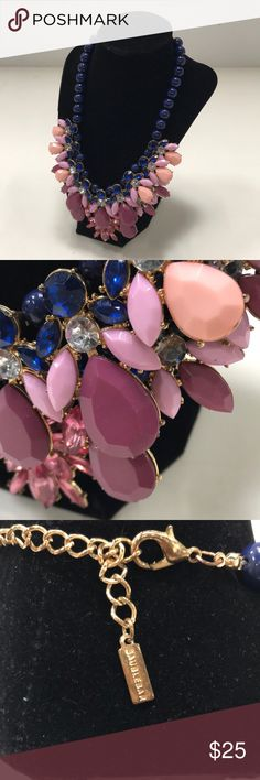 BaubleBar Double Layer Necklace A double layered necklace with pink and blue rhinestones from BaubleBar. Double Layer Necklace, Layered Necklace, Rhinestones, Jewelry Necklaces, Buy And Sell, Shop My, Womens Fashion, Pink, Closet
