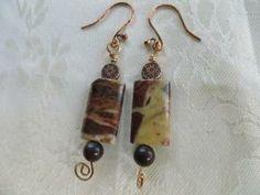 Dangle earrings, wire wrapped earring, bronze earrings, handmade earrings by JosiannesJewelry for $10.00