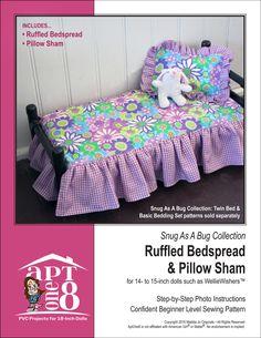 SnugAsABug-RuffledBedspreadAndPillowSham-COVER
