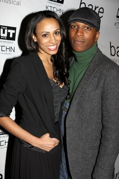 Smash cast member Leslie Odom, Jr. (right) attends the opening with his significant other, Nicolette Robinson.(© Miguel Munguia)